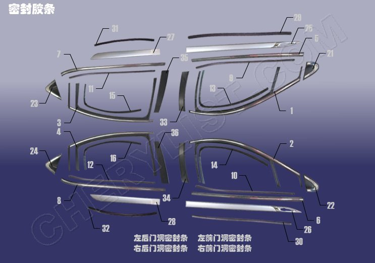 CHERY AUTOMOBILE A3 M11 STRIP - SEAL