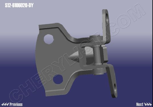 CHERY AUTOMOBILE A1 KIMO S12 HINGE ASSY UPR-DOOR FR RH :: S12-6106020-DY